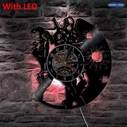 Deadpool Wall Silhouette Living Led Clock Backlight