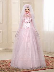 gorgeous long sleeves high neck beading bowknot a line With muslim wedding bridesmaid dresses