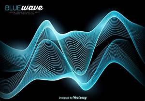Vector Abstract Blue Wave Background - Download Free ...