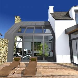 projet de renovation et d39extension moderne d39un penty With maison toit plat bois 9 extension bois finistere extenbois