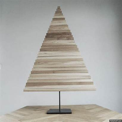 Tree Christmas Trees Diy Wooden Wood Modern