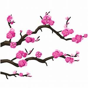 Dessin Fleur De Cerisier Japonais Noir Et Blanc : sticker branches cerisier du japon stickers villes et ~ Melissatoandfro.com Idées de Décoration