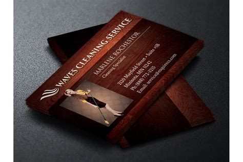 elegant cleaning service business card
