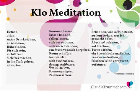 klo mediation zum thema loslassen