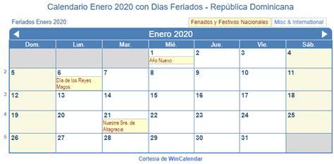 calendario enero   imprimir republica dominicana