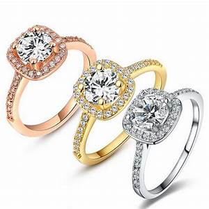 2017 engagement ring for women yellow gold rose gold With wedding rings for women 2017
