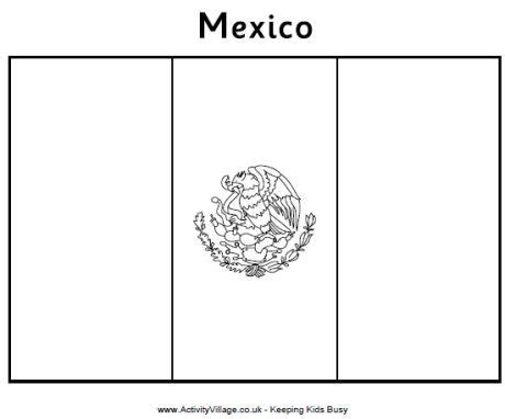 Mexico Flag Colouring Page   Flag coloring pages, Mexican ...