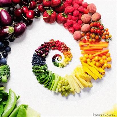 Fruit Fruits Vegetables Veggie Rainbow Vegetable Gifs