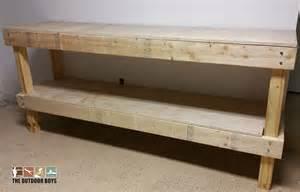 DIY Garage Work Benches