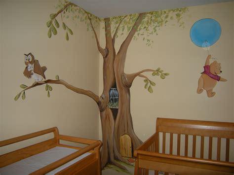 Winnie The Pooh Nursery Themes by Nursery Mural Wall Themed Painting Showcase How