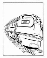 Trains Coloring Train Printable Popular sketch template
