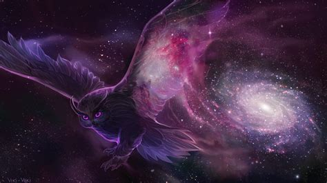 Galaxy Animal Wallpaper - galactic owl hd wallpaper and background image