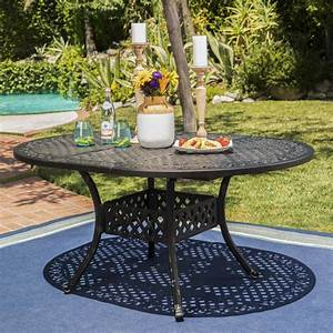 Carrie, Outdoor, 7, Piece, Aluminum, Dining, Set, With, Expandable, Dining, Table, Black, Sand