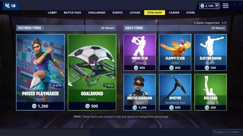 soccer skins   fortnite item shop february