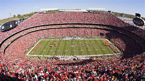 arrowhead stadium seating chart pictures directions  history kansas city chiefs espn