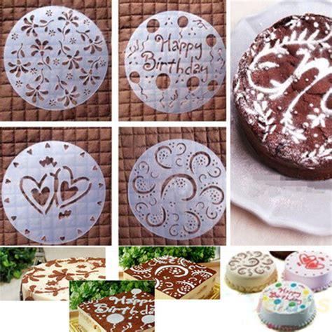 4 pochoirs pour d 233 coration de patisserie gateaux patisserie d anniversaire sucre glace ou cacao
