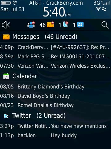 blackberry style numbered notifications in status bar for