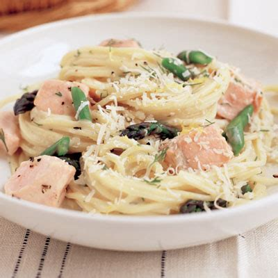 light pasta sauce light pasta with salmon asparagus and dill