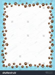 Dog Paw Prints Border Frame On Stock Vector 253679650 ...