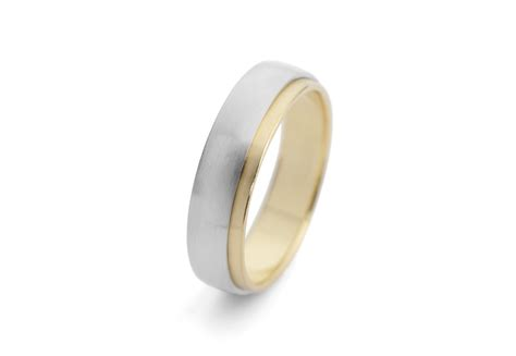 Men's Yellow Gold And White Gold Mixed Metal Wedding Band