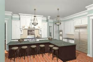 kitchen island shapes 3d renderings of custom kitchen