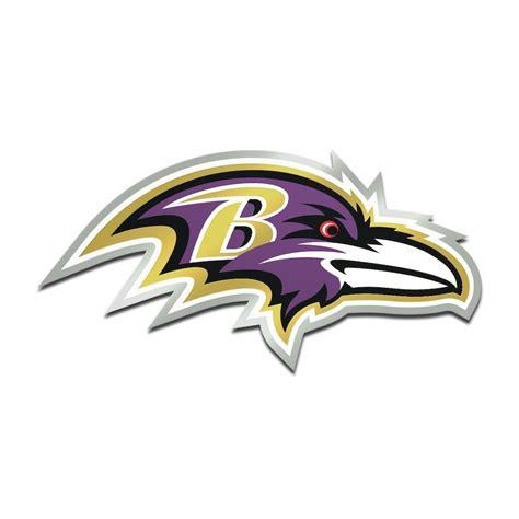 Baltimore Ravens Metallic Freeform Logo Auto Emblem