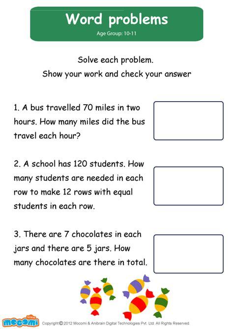 word problems worksheet mocomi for kids