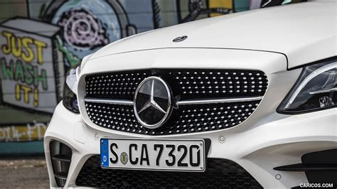 The assistance by eq boost creates the prerequisites for additional functions that help to cut. 2019 Mercedes-Benz C-Class C300 Cabrio (Color: Diamond White) - Grill   HD Wallpaper #82