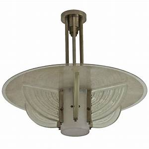 Fine french art deco chandelier by hettier et vincent for