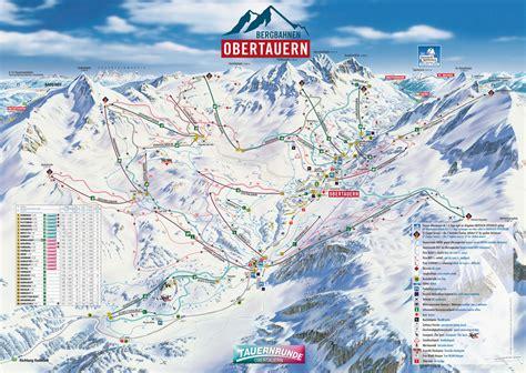 Pistenplan Skigebiet Obertauern, Salzburger Land, Österreich
