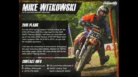 mike witkowski 2015 sponsorship resume