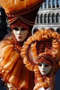Orange Venetian Carnival Mask