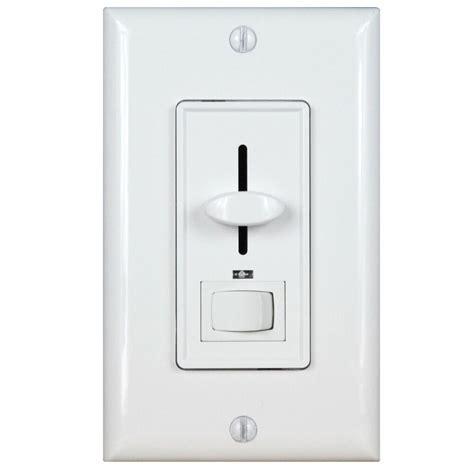 decorator slide wall dimmer light switch 3 way white knob