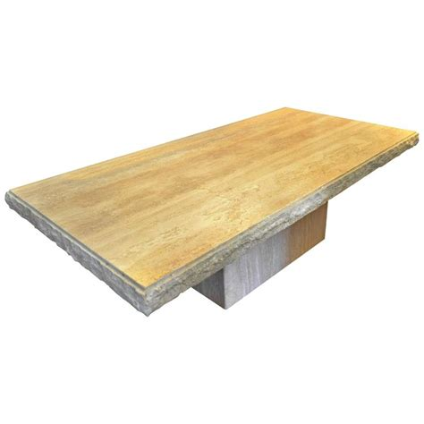 rectangle tables for sale italian rectangle travertine coffee table for sale at 1stdibs