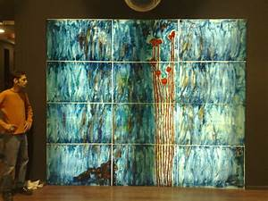 Stained glass art wall decor oversized painting modern