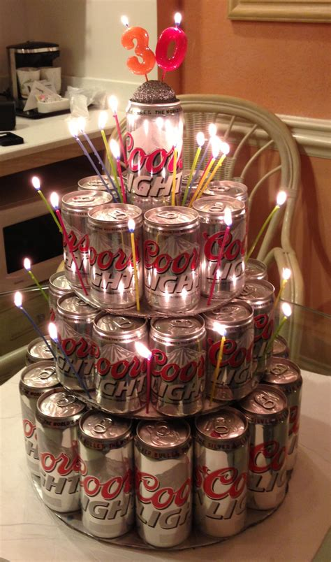 how to make coors light taste coors light can cake cans glue gun and foam board