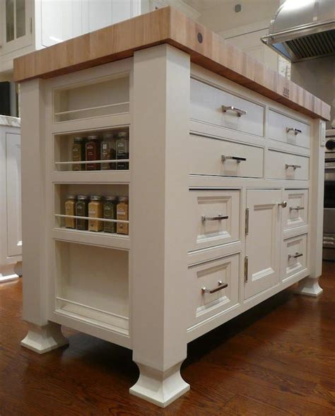 island spice rack transitional kitchen the renovated - Freestanding Kitchen Island Unit