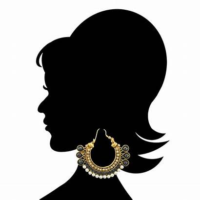 Jewelry Clipart Imitation Indian Earrings Bollywood Traditional
