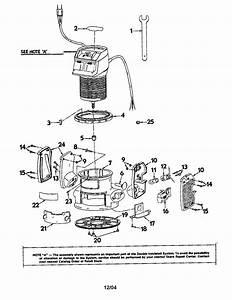 Craftsman 31517500 Router Parts