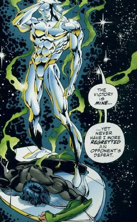 silver surfer  green lantern marvel  dc silver