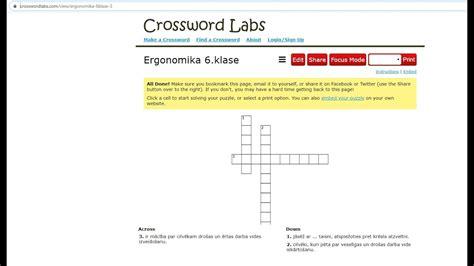 Kā izveidot krustvārdu mīklu izmantojot www.crossworlabs ...
