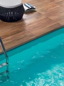 Carrelage Terrasse Piscine : construction terrasse piscine carrelage imitation bois ~ Premium-room.com Idées de Décoration