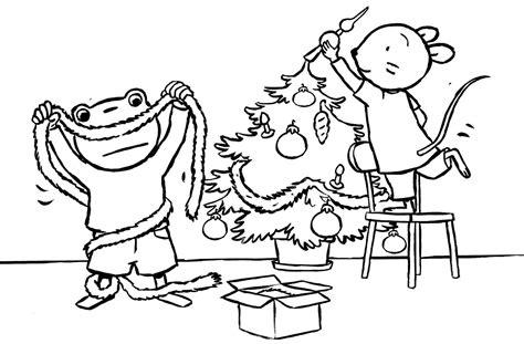 Nellie En Cezar Kleurplaat by Nellie En C 233 Zar Versieren De Kerstboom Nellie En Cezar