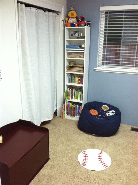 Sports Corner In The Boys Room by Reading Corner With Bean Bag Chair In Boys Sports