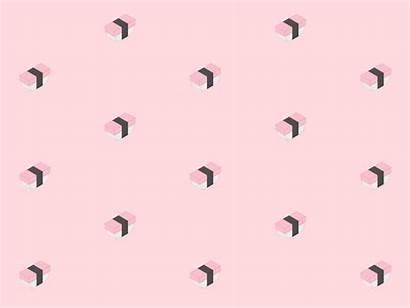 Pastel Pink Pattern Sushi Animated Loop Pale