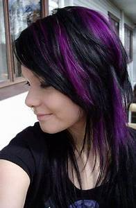 Trend Alert Black And Purple Hair Would You Dare