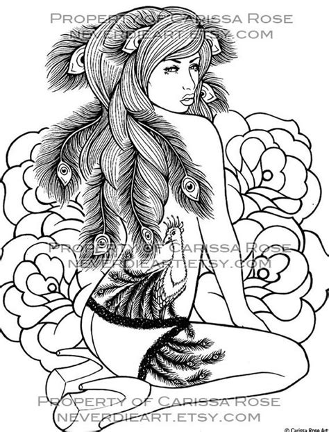 digital  print   coloring book outline page