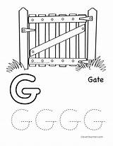 Letter Coloring Gate Preschool Alphabet Writing Sheet Tracing Worksheets Sheets Worksheet Cleverlearner Activities Themes English Toddler Children Tracinglettersworksheets Practice sketch template