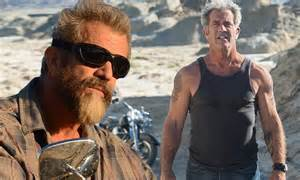 mel gibson shows   tattooed muscles  upcoming film