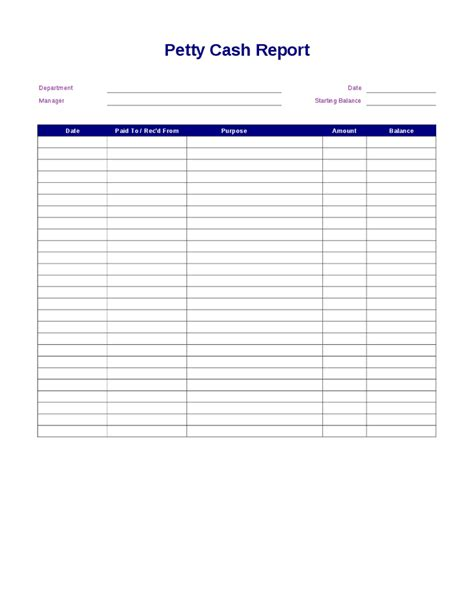 petty cash log example petty cash report pictures to pin on pinterest pinsdaddy
